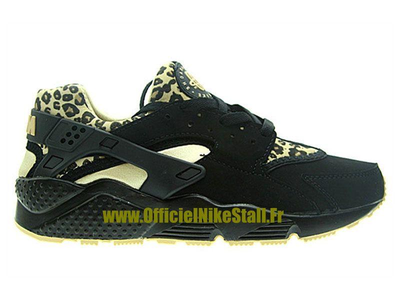 89805be708b Nike Air Huarache Run - Chaussure Nike Running Pas Cher Pour Homme Noir  Jaune-