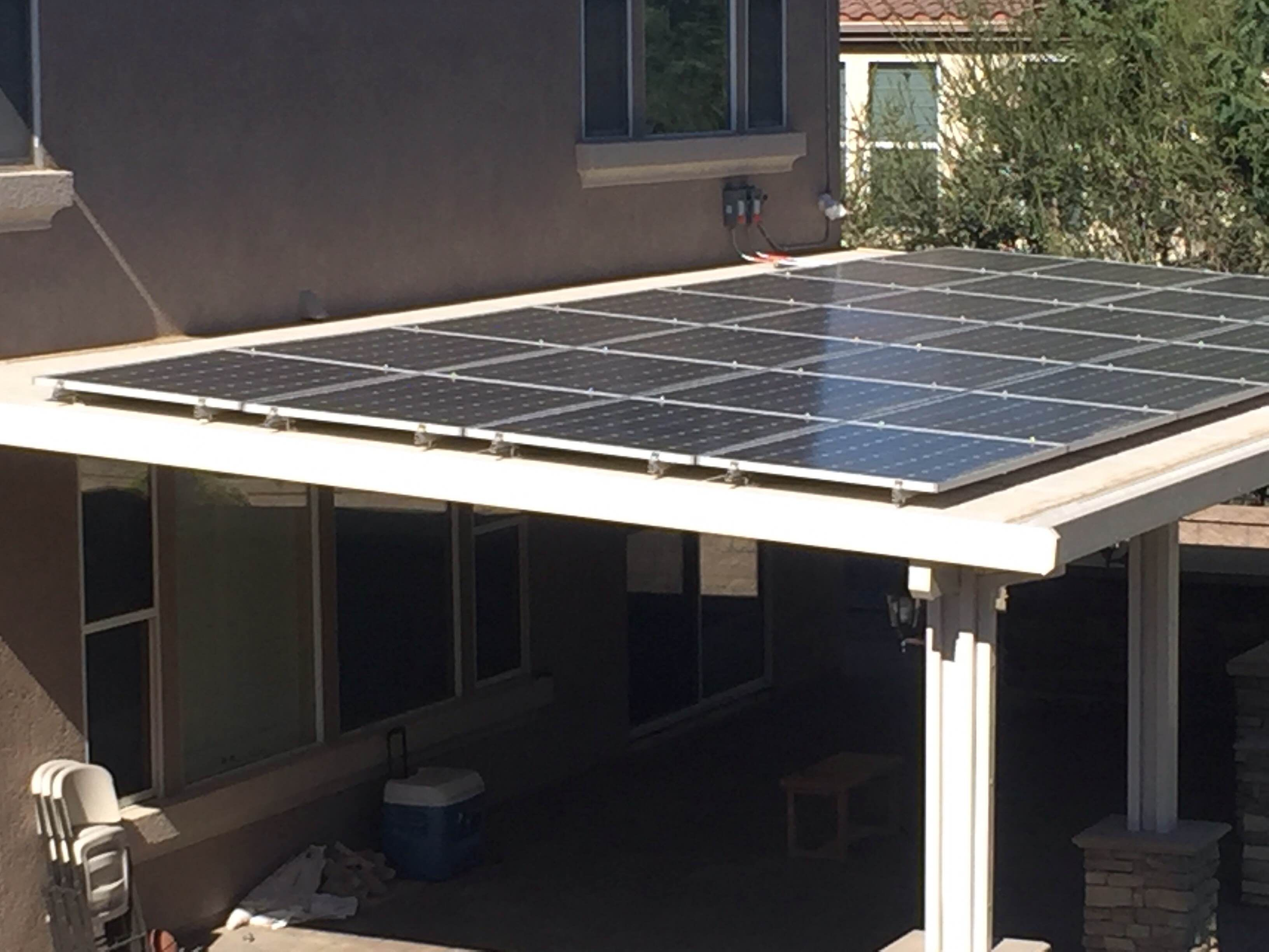 Solar Patio Cover (With images) | Aluminum patio covers ...