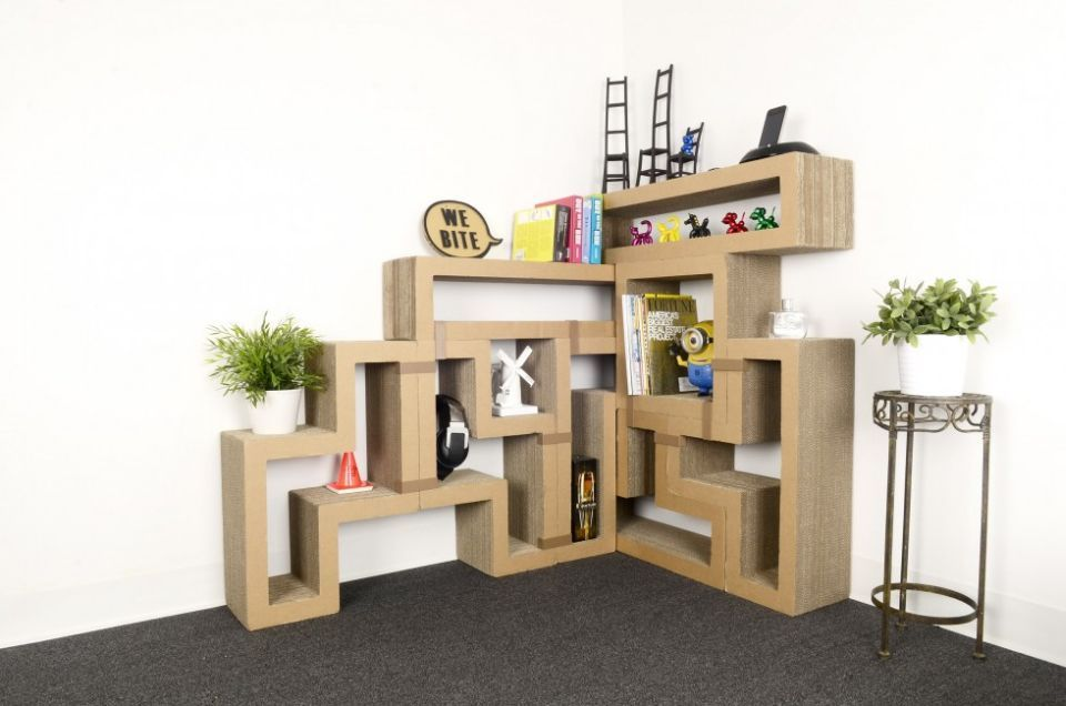 Captivating Katris Modular Cardboard Cat Furniture Framed With Tetris Like .