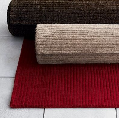 Crate U0026 Barrel Palmer Deep Red Wool Area Rug (I Have 2, One For