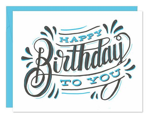 Greeting Cards Happy Birthday Hand Lettering Happy Birthday Calligraphy Happy Birthday Typography