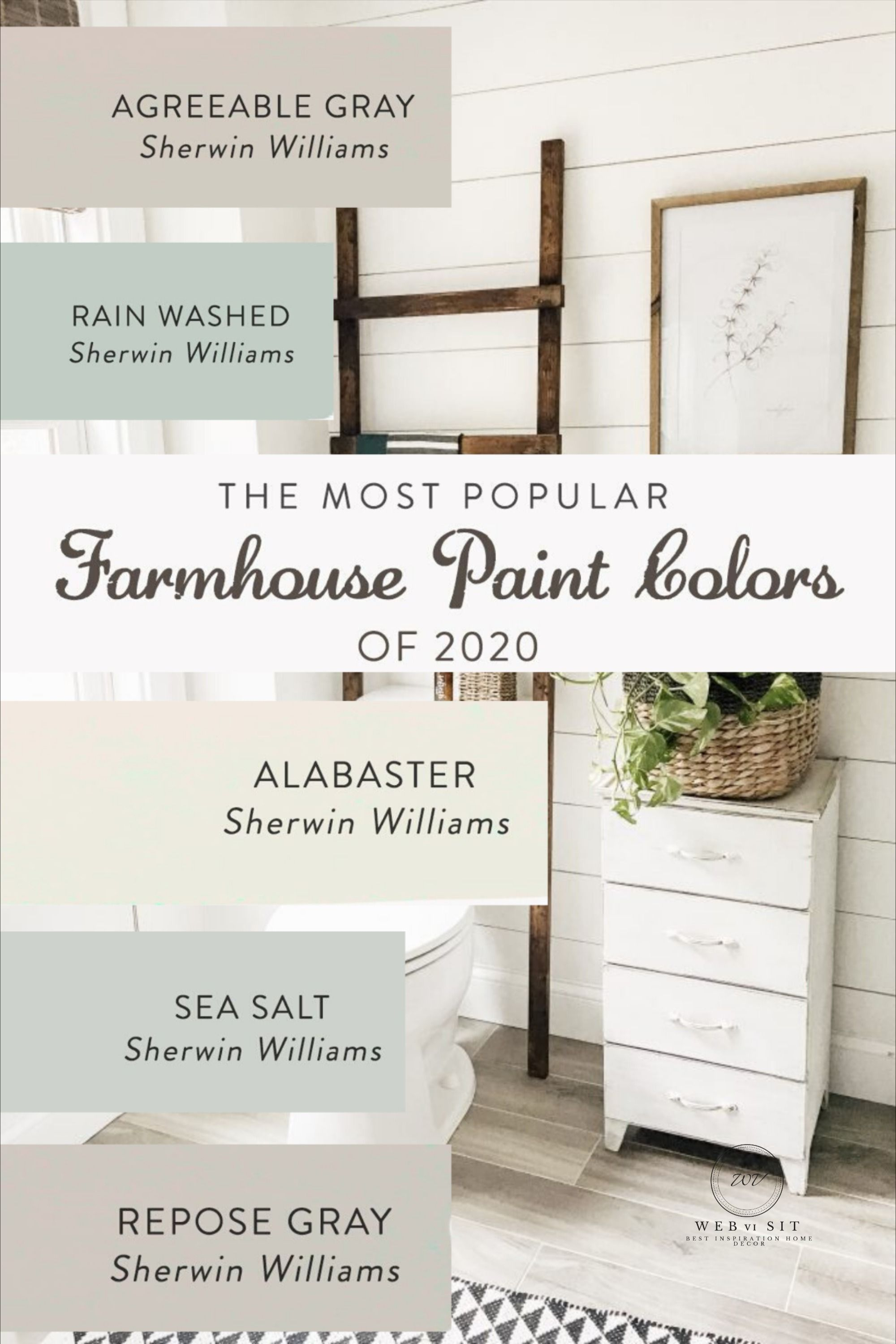 The Most Popular Farmhouse Paint Colors