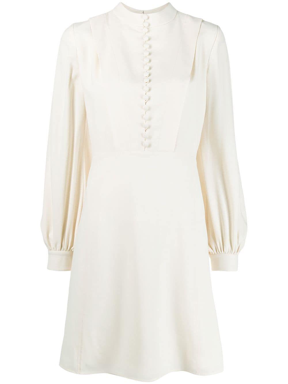Chloe Buttoned Long Sleeved Dress In White Modesens In 2021 Long Sleeve Dress Dresses White Dress [ 1334 x 1000 Pixel ]