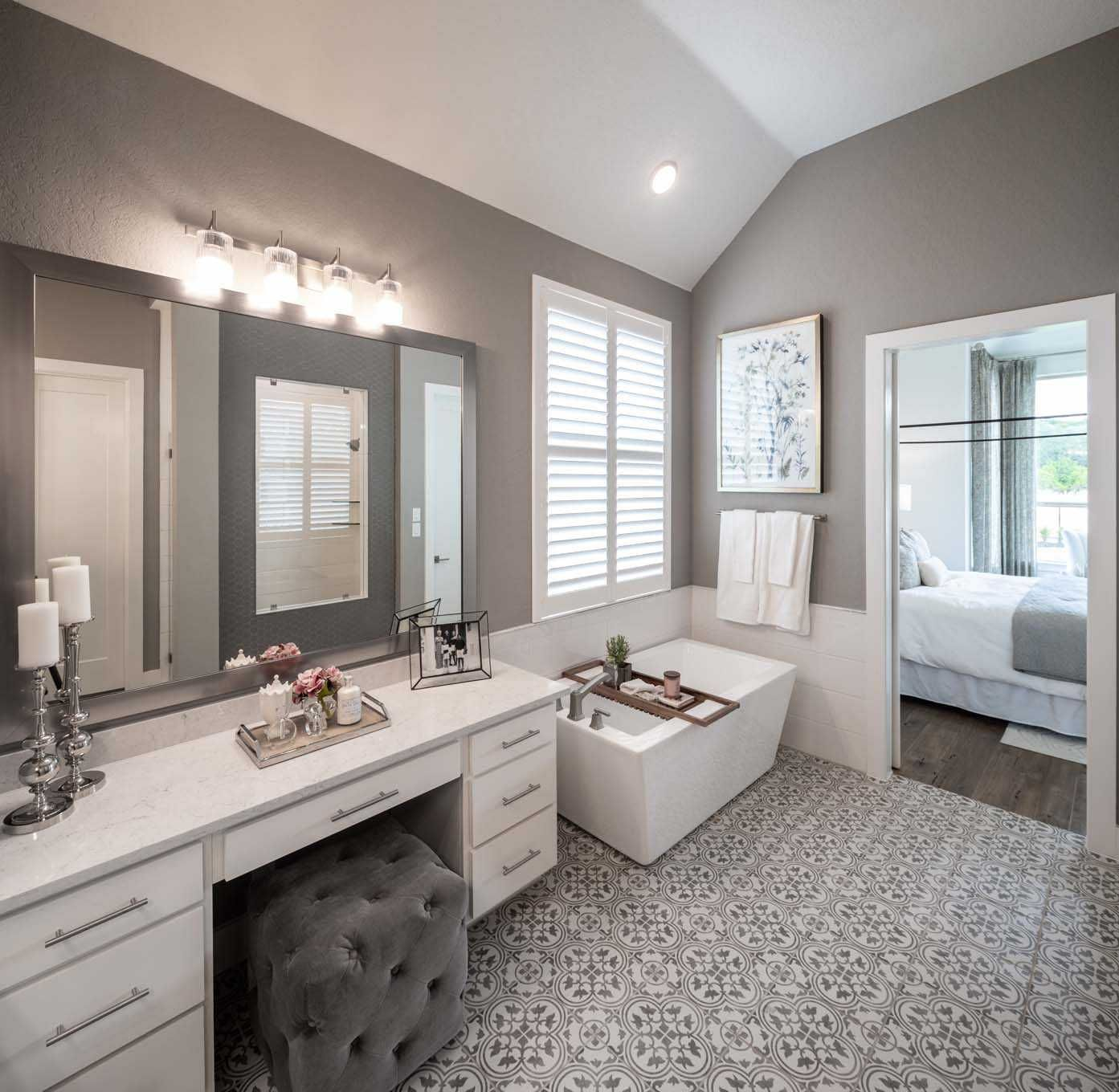 Master Bathroom In Highland Homes 216 Plan At 17906 Cantera Court