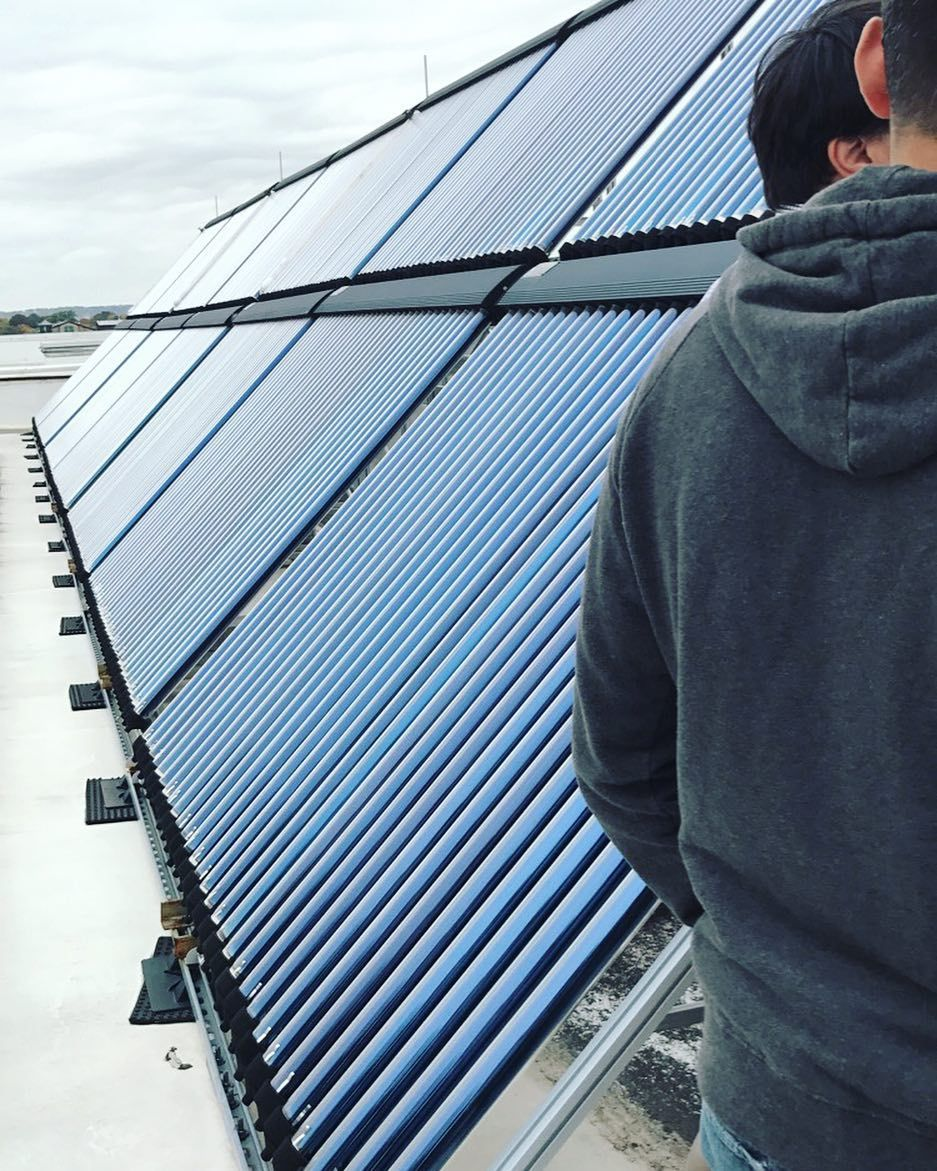 this solar heating system at njit provides heat for 65% of the ...