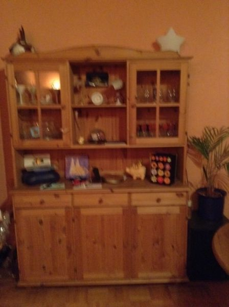 Buffetschrank Ikea Holz , Oberteil abnehmbar,Maße  Höhe 1,80 x - küchen unterschrank ikea