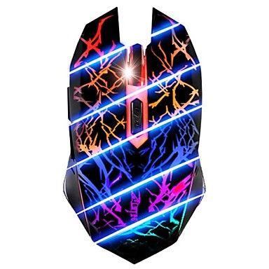 7 Color Breathing Light 3200dpi 6 Knap Optisk USB Wired Gaming Mouse For PC Gamer - DKK kr. 67