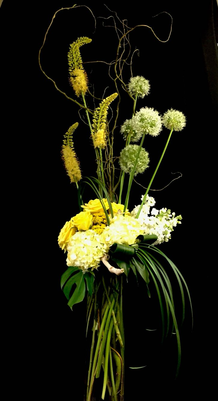 Yellow And White Contemporary Floral Bouquet Mixed Flower Bouquets