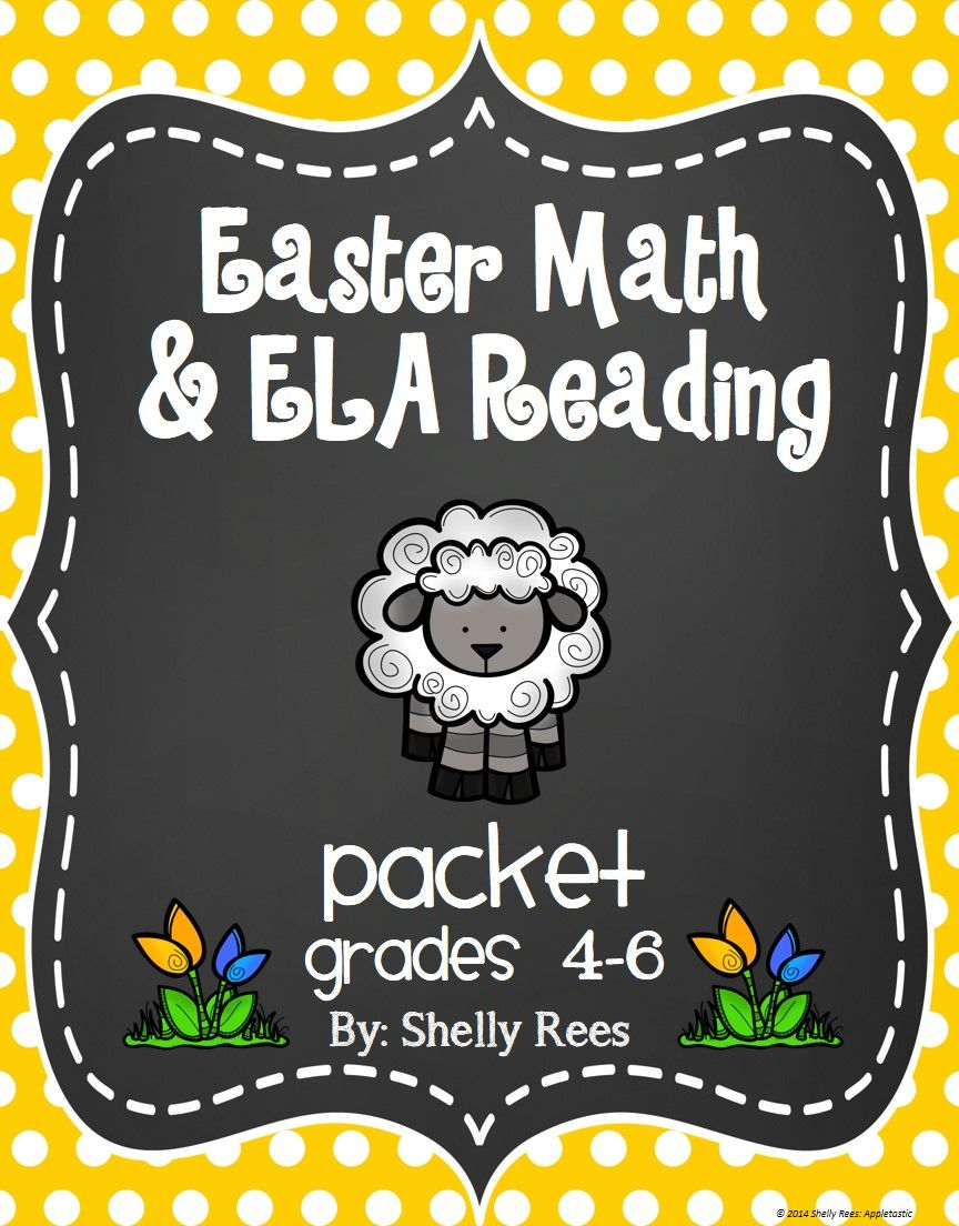Easter Math And Ela Reading Packet For Grades 4 6 Fun Way To Reinforce Skills Like Mean Median And Mode Easter Math Easter Readings Easter Math Activities [ 1104 x 864 Pixel ]