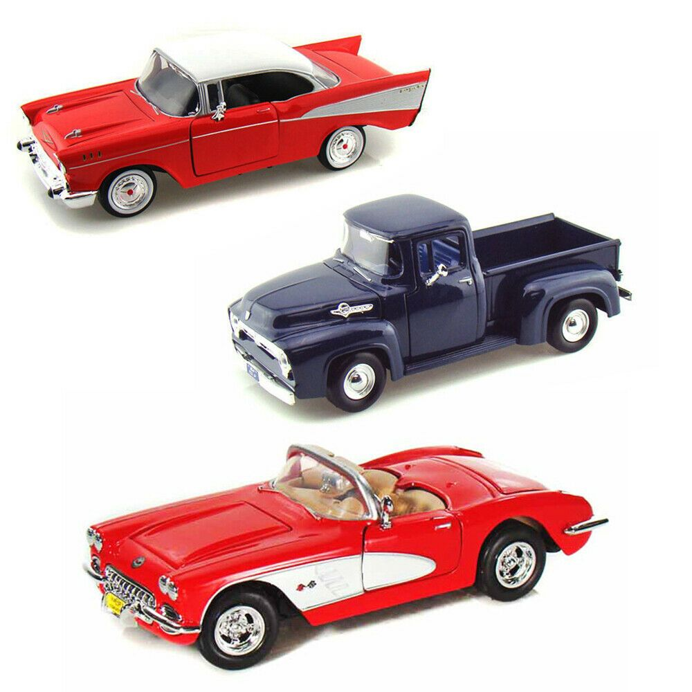 Best Of 1950S Diecast Cars Set Of 3 1/24 Scale Diecast