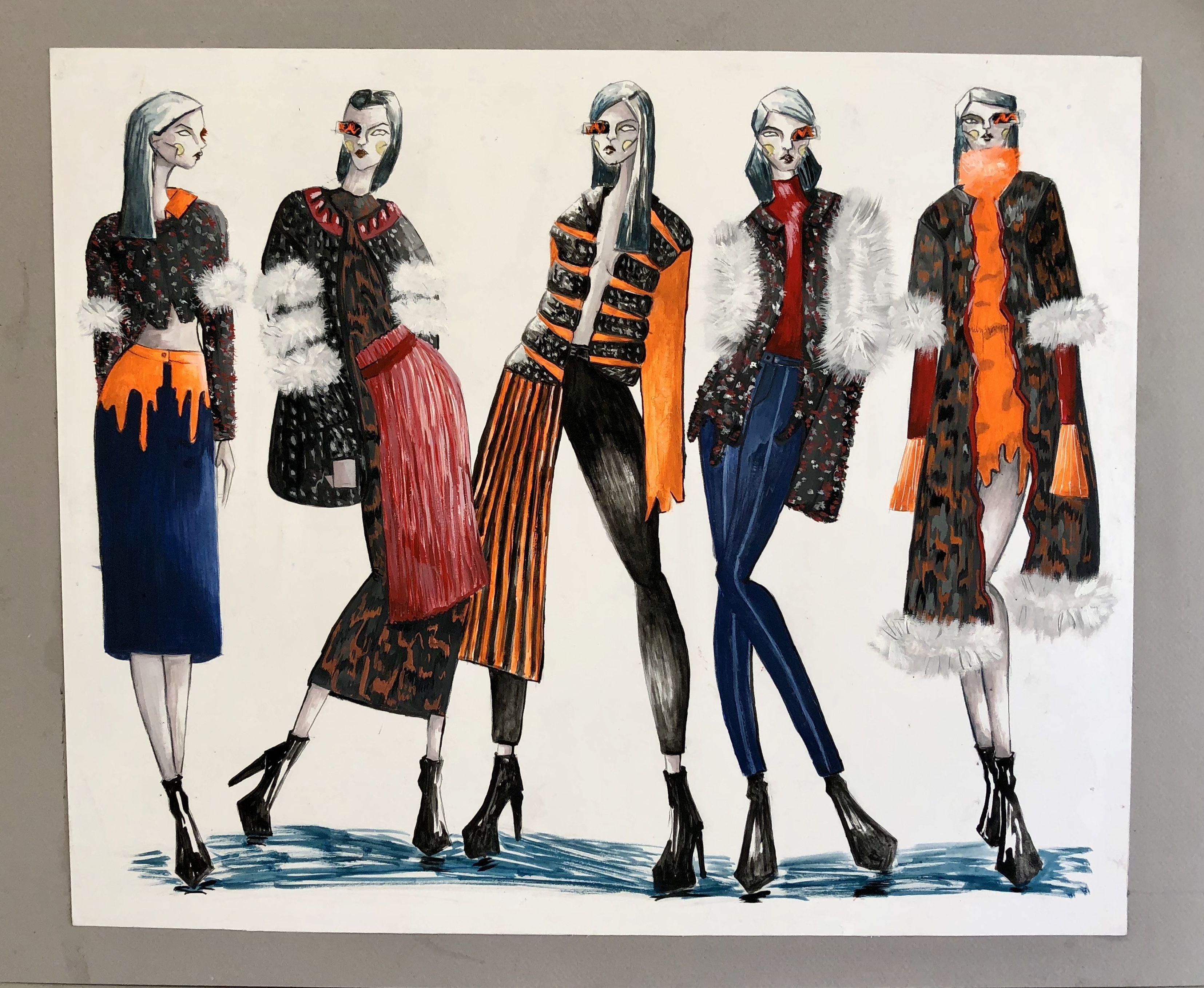 SCAD student work   Illustration fashion design, Fashion design sketches,  Fashion design portfolio