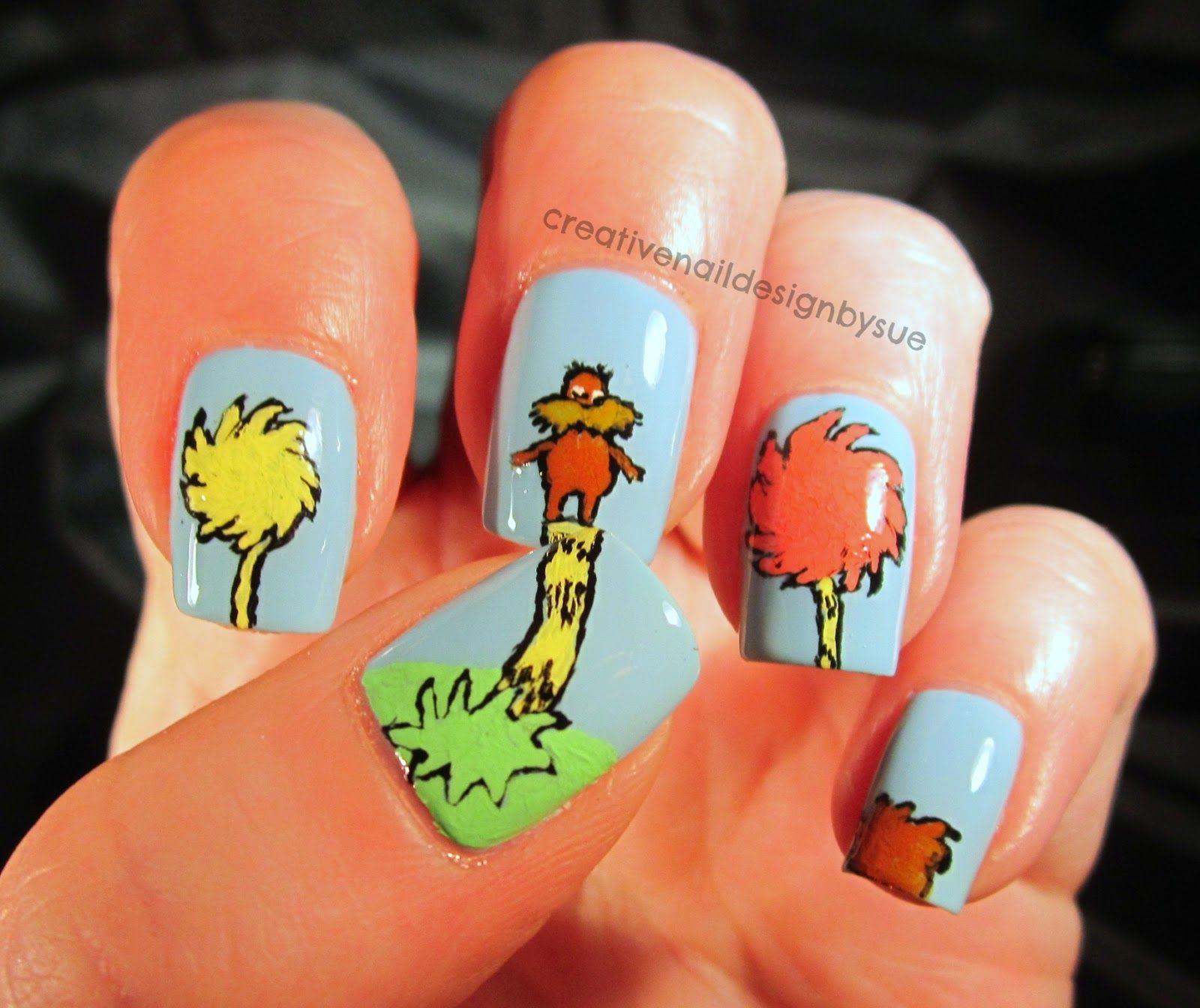 Creative Nail Design by Sue: Digit-al Dozen Does Books-The Lorax ...