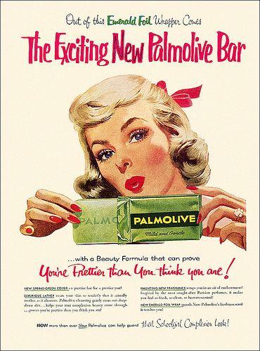 palmolive soap ad 1957 pinterest affiches publicitaires ephemere et ann es 50. Black Bedroom Furniture Sets. Home Design Ideas