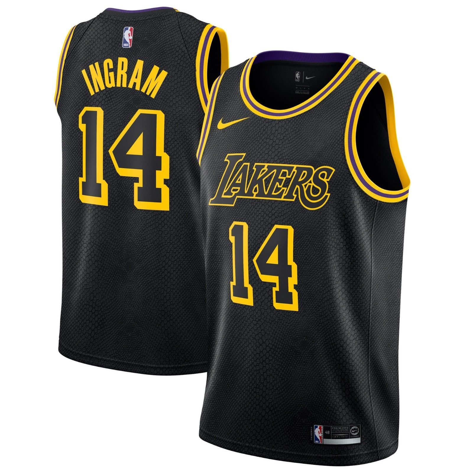 Nike Los Angeles Lakers Trikot 201718 Brandon Ingram Icon