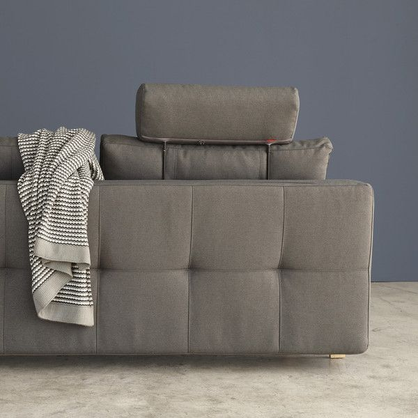 Nordic Sofa Bed Opens To A Double Down Filled Back Cushions Comes Apart Fit Up Stairs Dark Grey With Bent Oak Legs