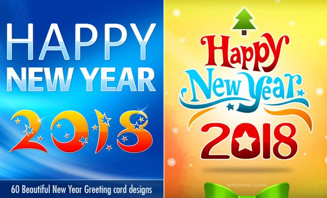 60 beautiful new year greetings card designs for your inspiration read full article http