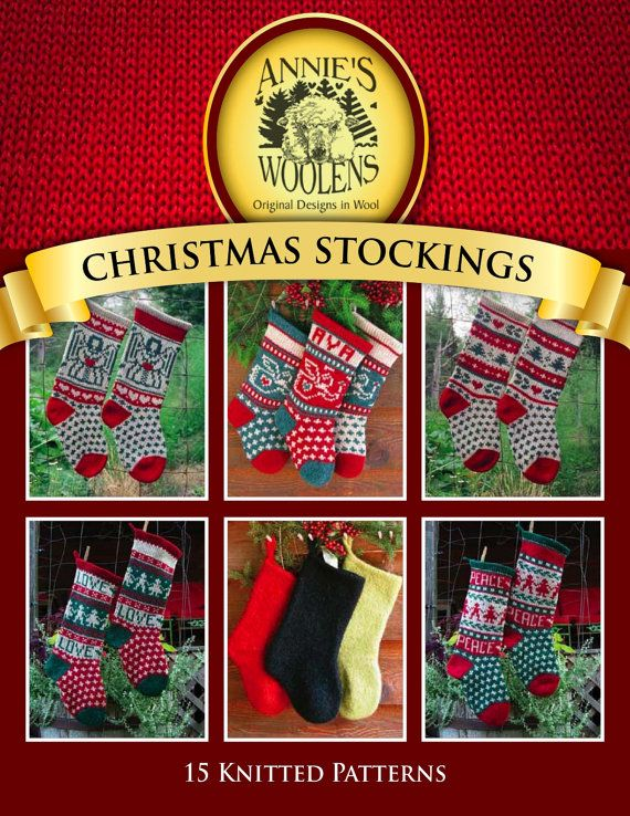 Annie\'s Woolens Digital e-Book Christmas Stockings Knitting Pattern ...