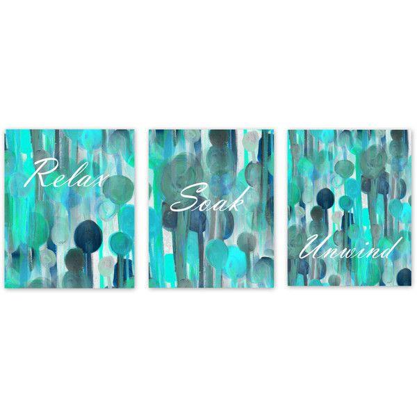 Bathroom Wall Decor Teal Bathroom Decor Turquoise Navy Aqua Bathroom...  ($19) Part 16