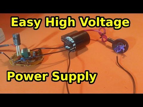 Make a High Voltage Power Supply Using a CFL Lamp and a