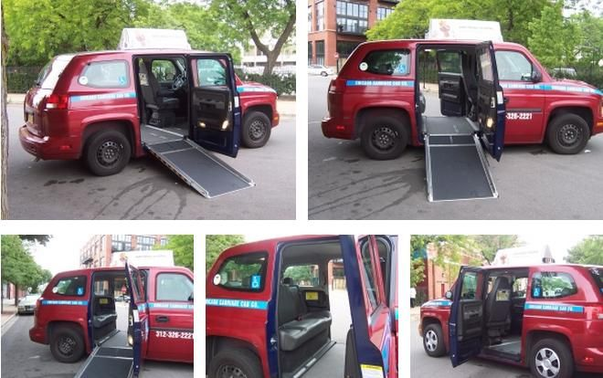 Chicago Carriage Cab Co  wheelchair accessible MV-1 Vehicles