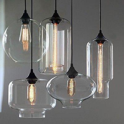 Nuevo l mparas colgantes de cristal retro moderna cocina for Lo ultimo en lamparas de techo