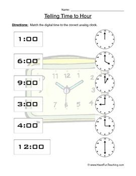 telling time to the hour clock worksheet april clock worksheets time to the hour telling time. Black Bedroom Furniture Sets. Home Design Ideas