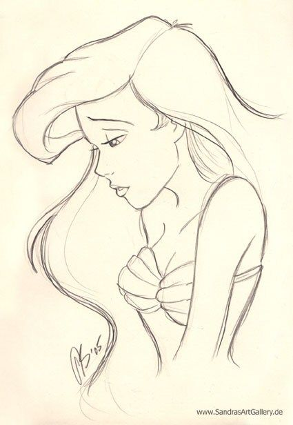 ariel drawing - Google Search | Disney@Pixiar | Pinterest ...