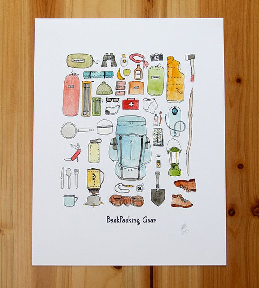 Backpacking Gear Print / by Jodi Lynn's Emporium of Doodles
