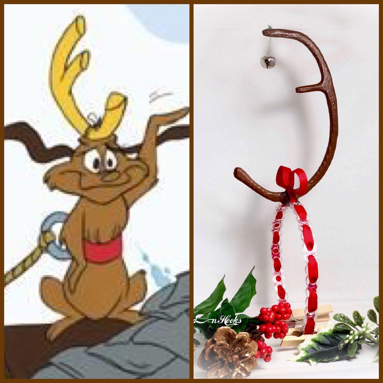 Max the dog faux deer antler headband grinch Christmas