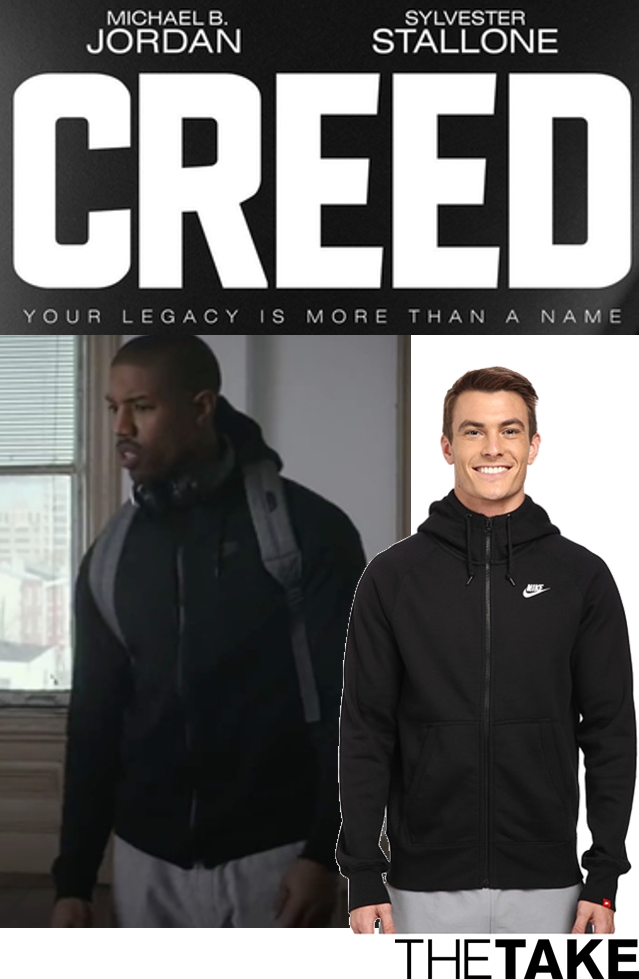 f2c436216454a1 Nike AW77 Fleece Full Zip Hoodie as seen on Adonis Johnson in Creed ...