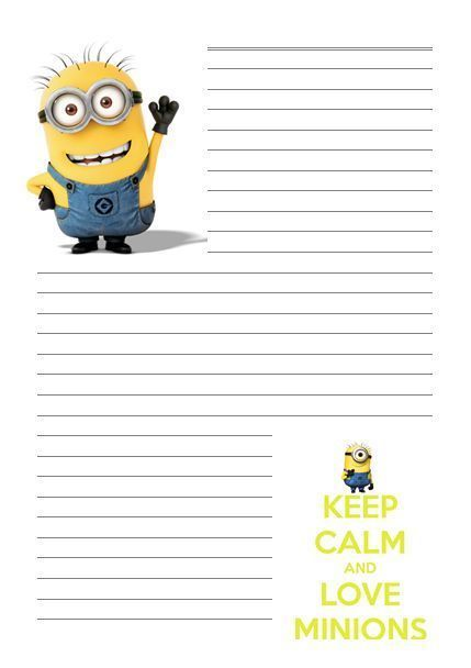 MINION Despicable me Letter writing paper A4\/A5 Stationary - lined writing paper