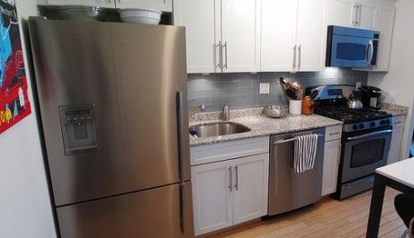 stove sink fridge on same wall - Google Search | kitchens ... on