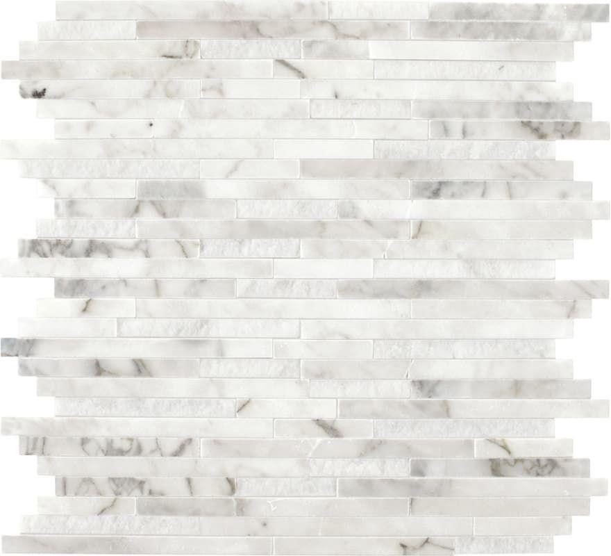 Sample Carrara White Marble Mint Glass Random Linear: Daltile M38RANDMSP In 2019