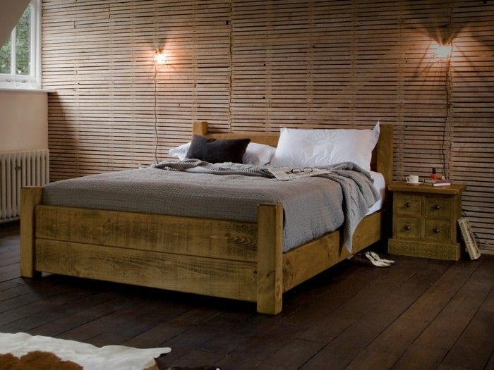 Beds Design Wood Rustic Wooden Floor Bedroom Jpg 700 525