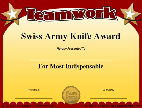 Funny Employee Awards - 101 Funny Awards for Employees ...