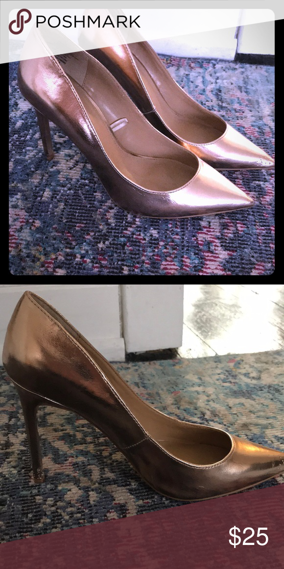 Gold Express Shoes Size 8 Gold express shoes, never worn Express Shoes Heels