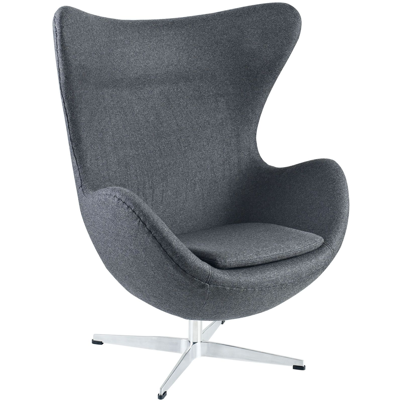 Egg Chair Replica Kopen.Egg Chair In Grey Flannel For Front Bedroom 699 I Like The