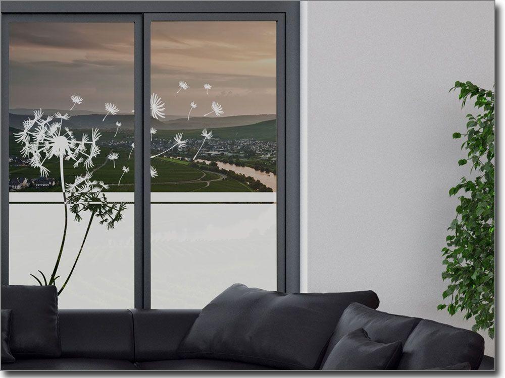 Fensterfolie Pusteblume für Ihr Fenster in allen Räumen - folie für badezimmerfenster