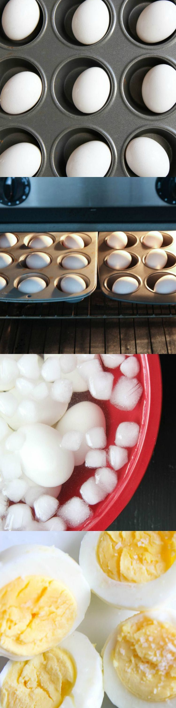 Make-Ahead Tutorial: Bake Hard Boiled Eggs #hardboiledeggs