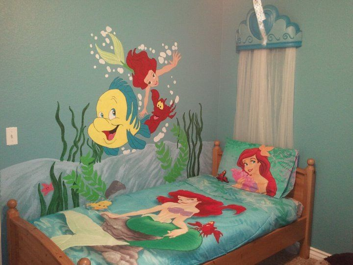 Mural For My Daughter39s Room Little Mermaid Interests