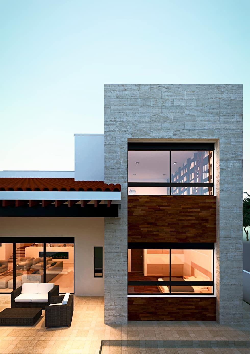 Fachada casas de estilo mediterraneo por emergente mx fachadas