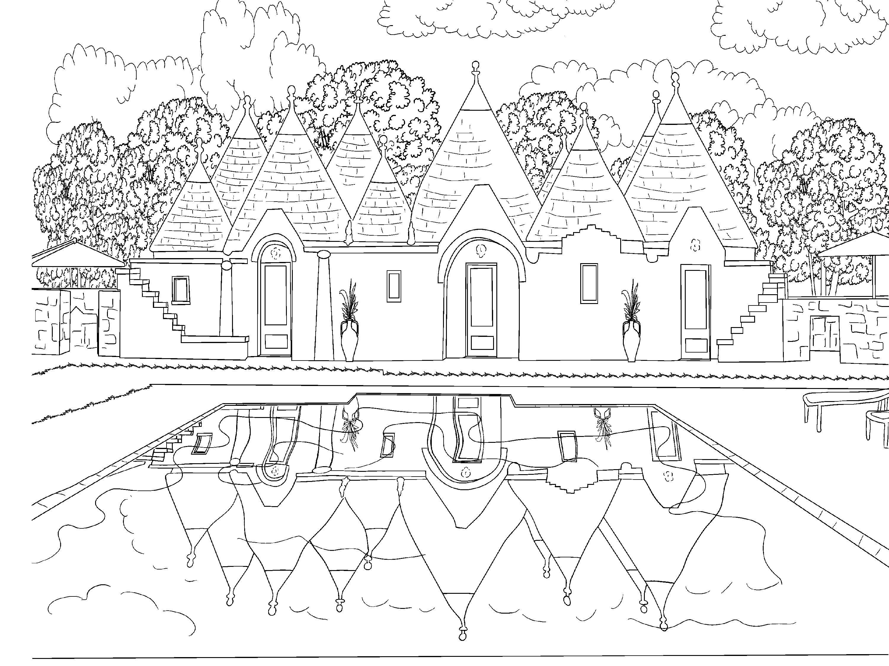 Beautiful Scenery Colouring Pages Coloring Pages Adult Coloring