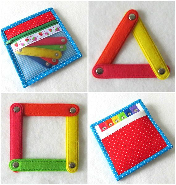 Activity game Felt Quiet Book page Montessori color matching game ...