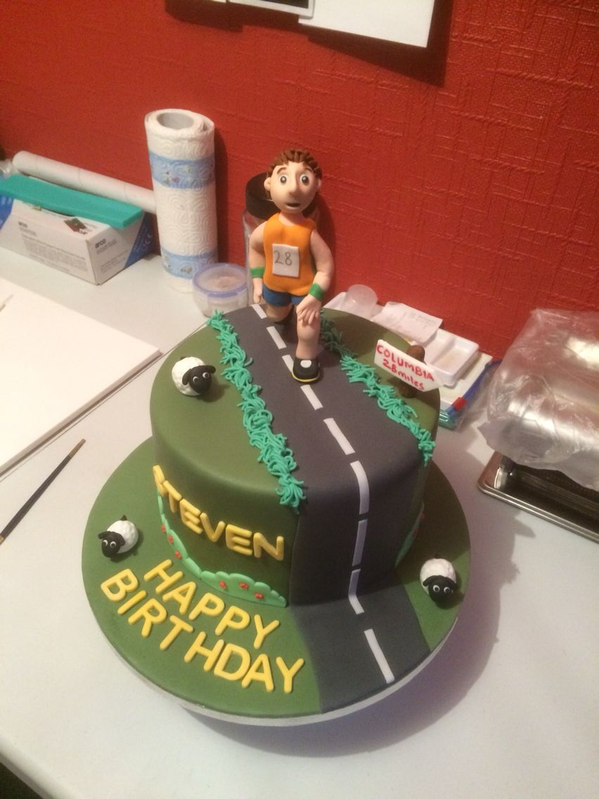 Birthday Cake For A Keen Runner Cakes By Michael In