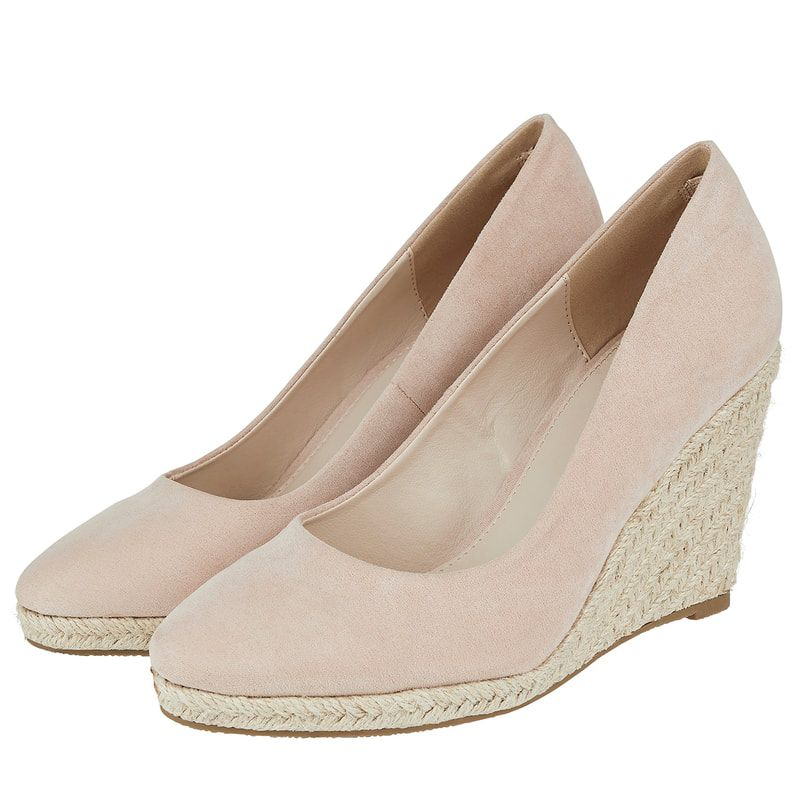 941b225ea20 For the Monsoon 'Fleur' Taupe Suede Espadrille Wedges | Shoes in ...