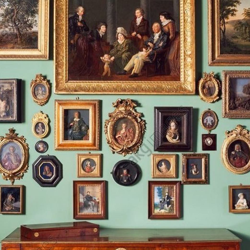 a beautiful wall covered with antique portraits antique on wall frames id=88328