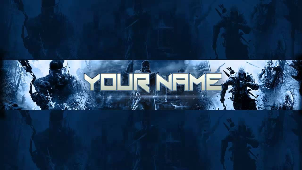 Gaming bannerchannel art template psd