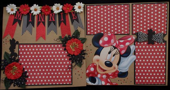 Disney Minnie Mouse 212x12 Premade Scrapbook Layouts Scrapbook