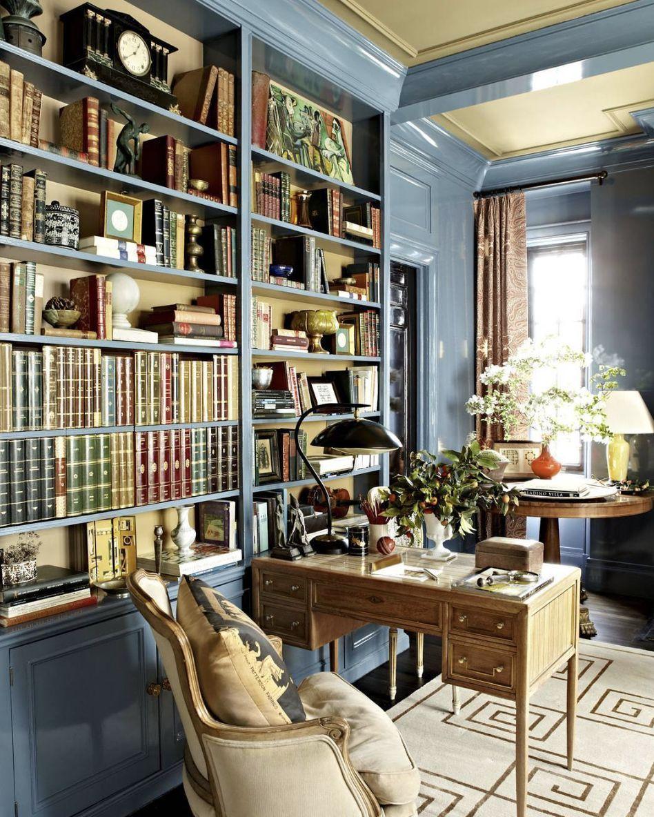 20 Home Office Bookshelves Designs Ideas: Beautiful Study Or Library. Home Office Bookshelves Built
