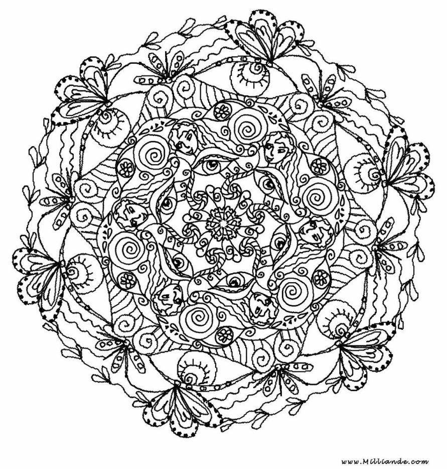 Image ٠ A Decouvrir ٠ Le Mandala Ici Depuis La Nuit Des Temps Ou Presque Skyrock Bloemen Kleurplaten Mandala Kleurplaten Gratis Kleurplaten